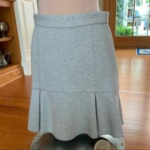 Madewell gray flare pencil skirt sz 4
